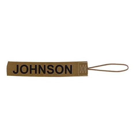 "2"" Gear Tag, 2 Pack, Brown"