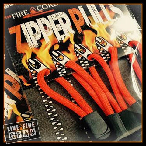 Live Fire Zipper Pulls Made w/Fire Cord