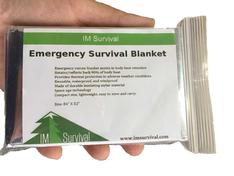 "Mylar Emergency Survival Rescue Blanket 84''x 52"" Camping Military Space Shelter"