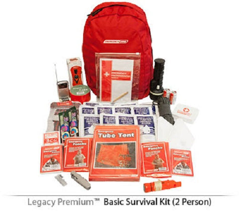 Legacy Premium Basic Essentials 2 Person 72 Hour Emergency Survival Kit SK0001