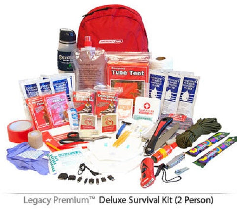Legacy Premium Deluxe 2 Person 72 Hour Emergency Survival Kit SK0002