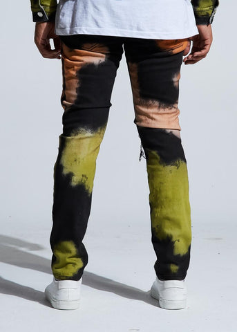 Embellish Walker Rip & Repair Denim (Rasta Dye)