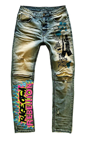 Rage Of Rebellion Denim Paint