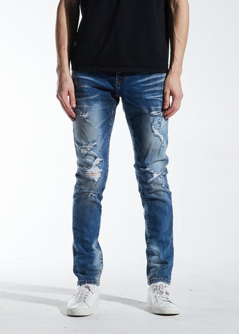 Crysp Atlantic Indigo Distressed