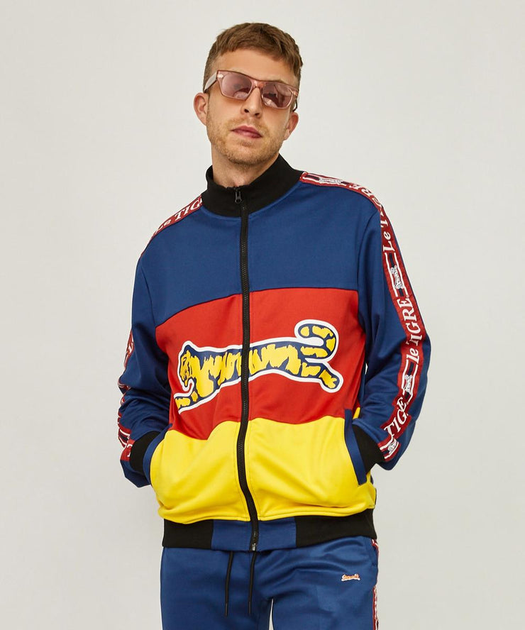 Le Tigre Tri Color Track Jacket (Navy/Red/Yellow)
