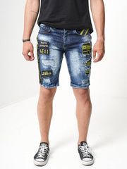 Sernes Caution Shorts (Blue)