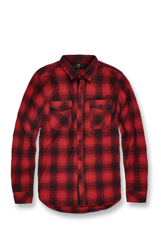 Jordan Craig Tacoma Flannel Shirt (Red)