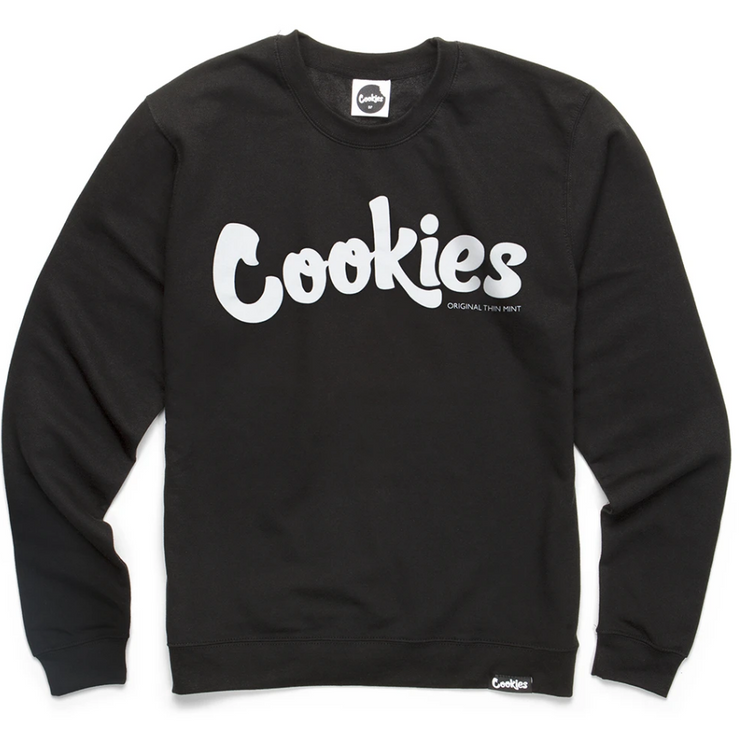 Cookies Original Logo Longsleeve Crewneck (Black/White)