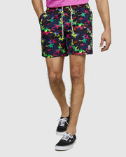 Psycho Bunny Bradley Swim Trunk Black