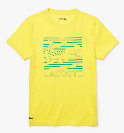 Lacoste Men's Sport Ultra-Dry Graphic Tee