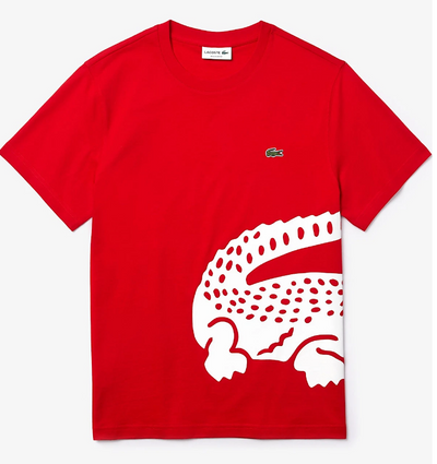 Lacoste Men's Big Croc Tee (Red)