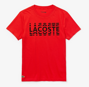 Lacoste Men's Sport Ultra Dry Crew Neck Cotton T-shirt