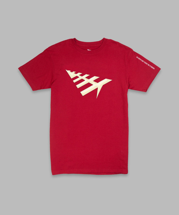Paper Planes All Points Tee Red