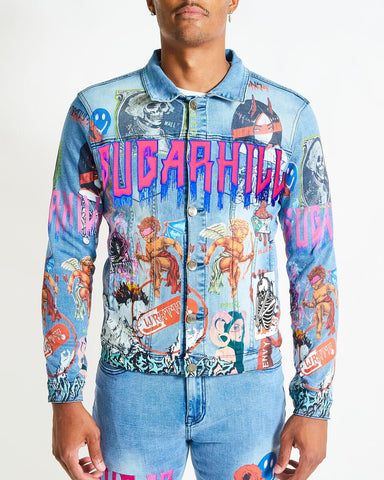 Sugar Hill 7 Sins Light Wash Denim Jacket