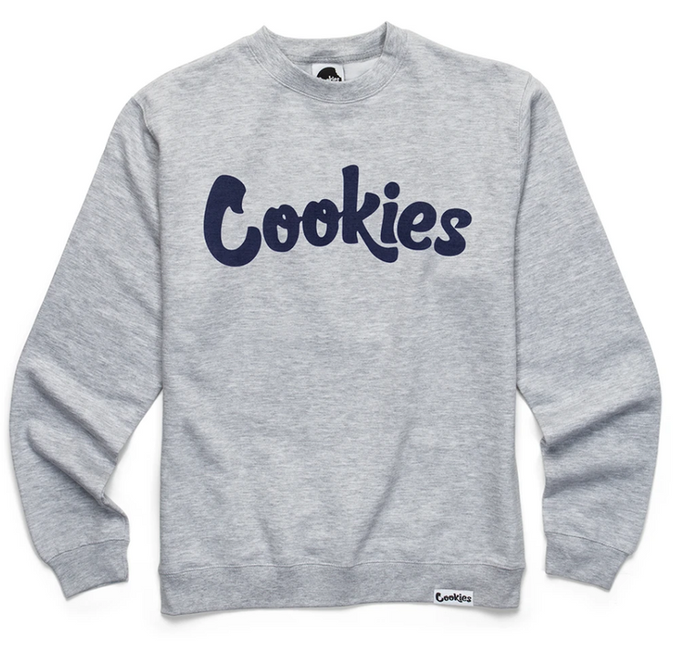 Cookies Original Logo Longsleeve Crewneck (Grey/Navy)