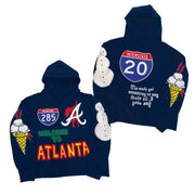 "ByKiy Homme Femme LA ""Welcome To Atlanta"" Hoodie ""Navy"""