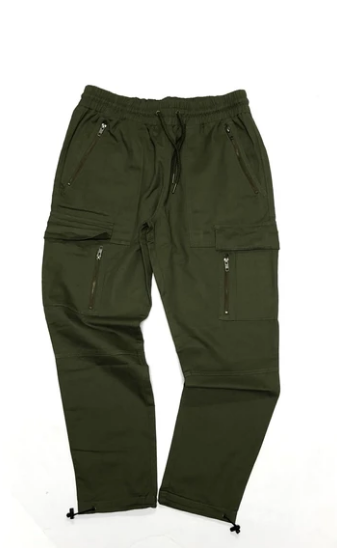 Cookies Sonoma Cotton Twill Drawstrings Cargo Pants (Olive) W1