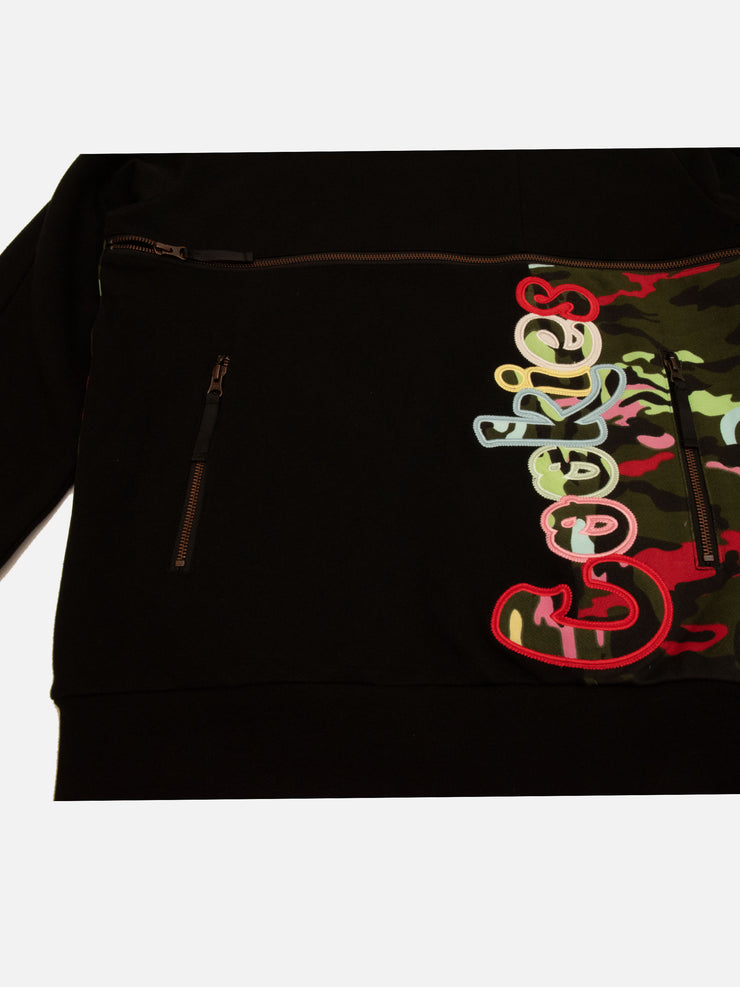 Cookies Escobar Pieced Fleece Crewneck (Black)