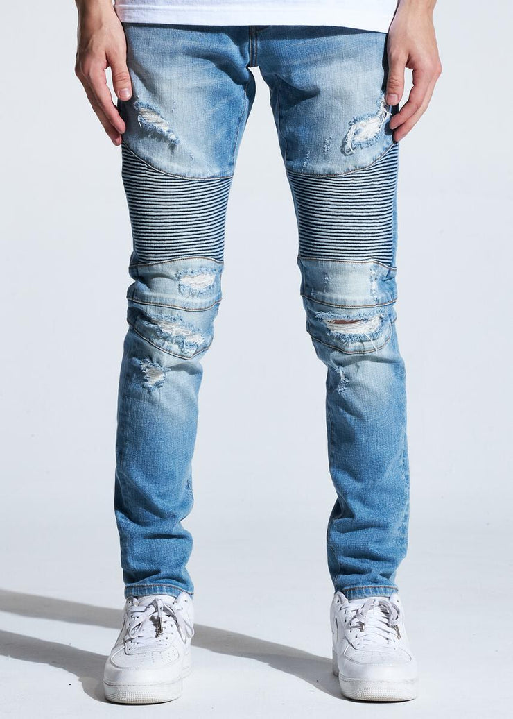 Crysp Skywalker Biker Light Blue Wash