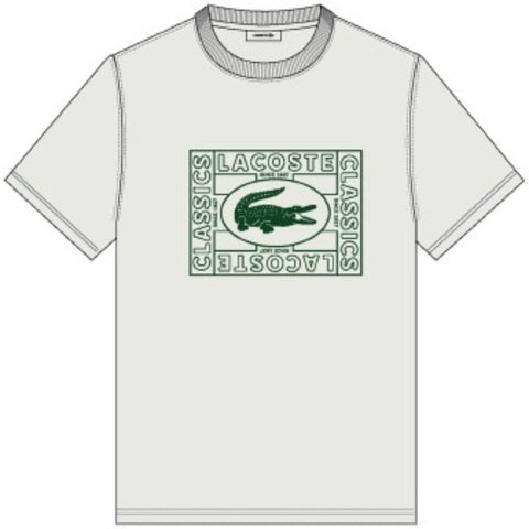 Lacoste Men's Solid Tee Large Stamp