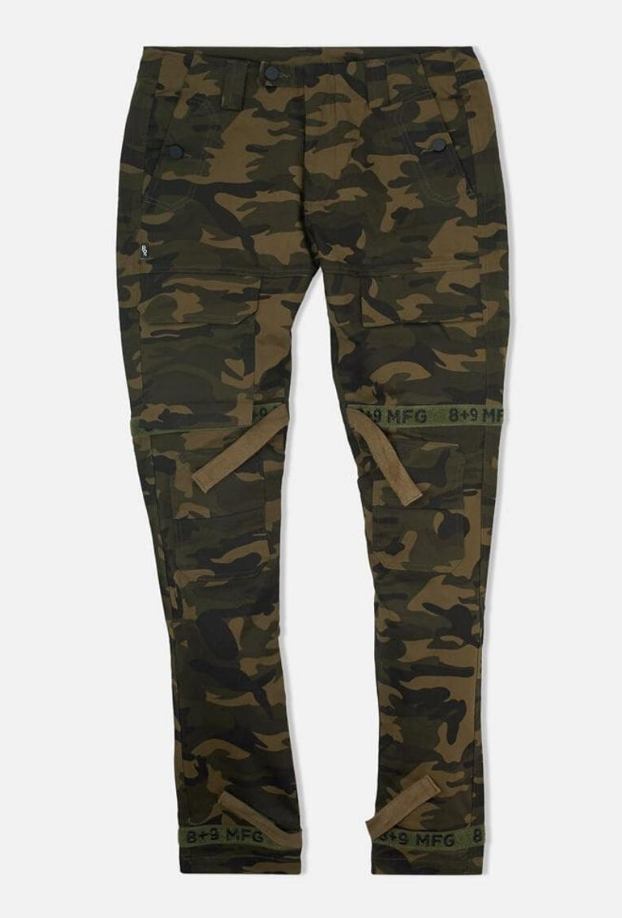 8 & 9 Clothing Strapped Up Utility Pants Mid Denim (Camo)