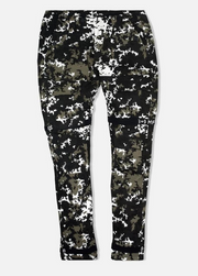 8 & 9 Clothing Strapped Up Utility Pants Mid Denim (Black/White Camo)