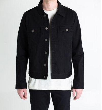 Embellish Spencer Denim Jacket (Black)