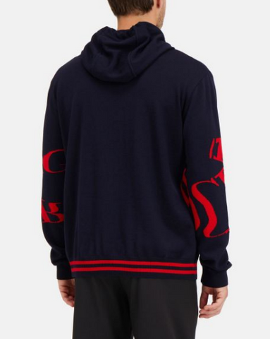 Iceberg Hooded Sweater Red Iceberg Logo