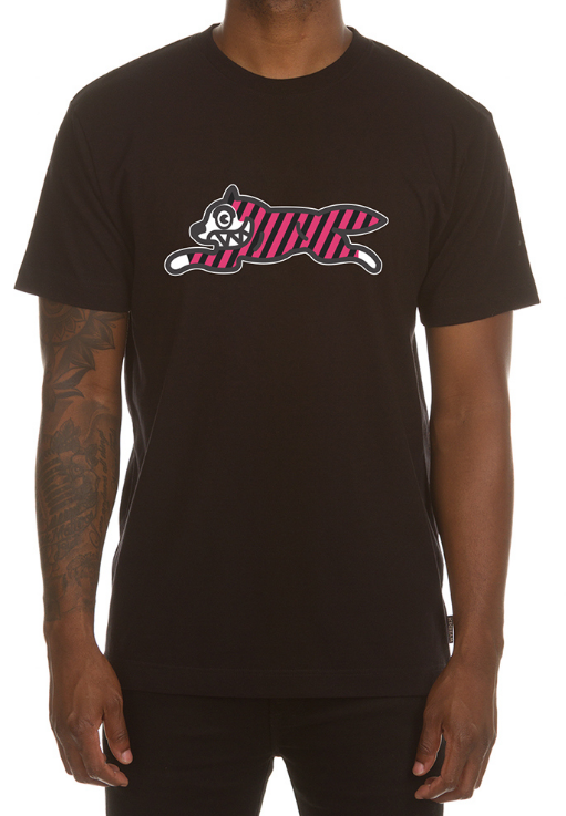 Icecream Yikes Stripes SS Tee (Black)
