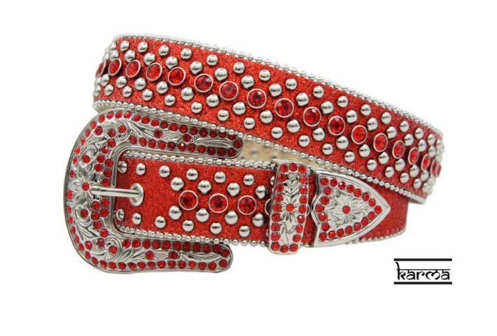 Karma Belts Rhinestone (Red)