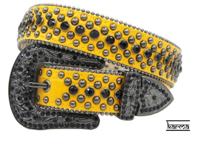 Karma Belts Rhinestone Burn Yellow