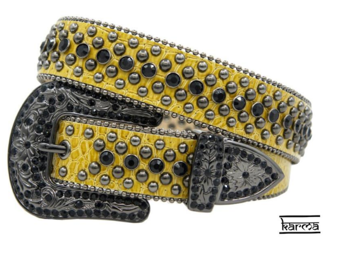 Karma Belts Rhinestone (Yellow-Black Stones)