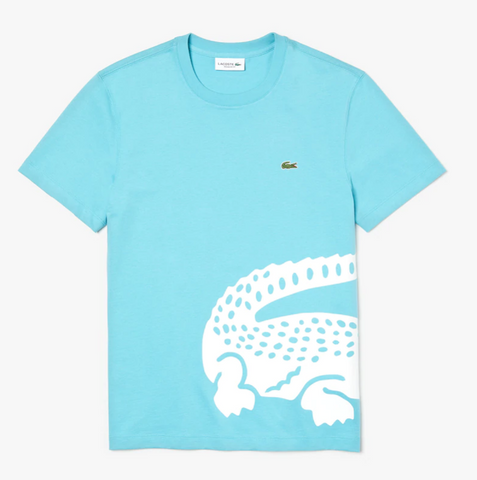 Lacoste Men's Big Croc Tee (Carolina Blue)