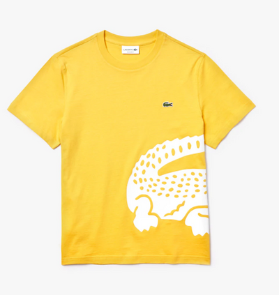 Lacoste Men's Big Croc Tee (Yellow)