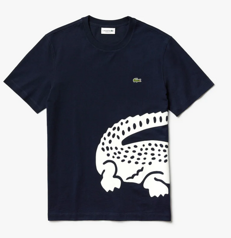 Lacoste Men's Big Croc Tee (Navy)
