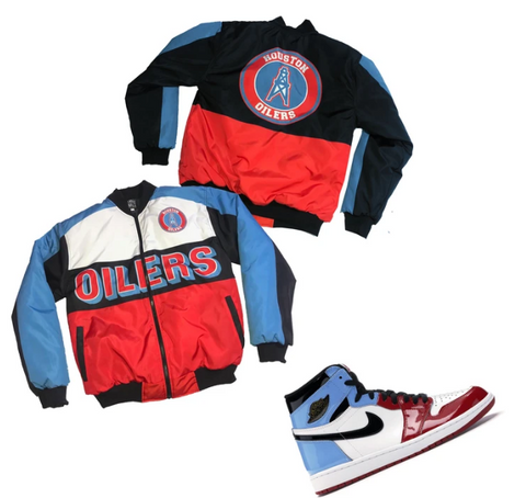 Nostalgic Club Houston Oilers Jacket