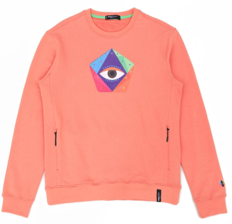 Roku Eye On The Pentagon Crewneck (Salmon)
