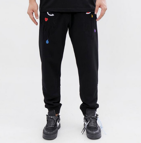 Roku Tear Dripping Jogger (Black)