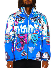 Sugar Hill Psycho Puffer Jacket (Blue)