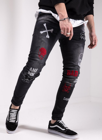 Sernes Rebels Tattoo Skinny Jeans