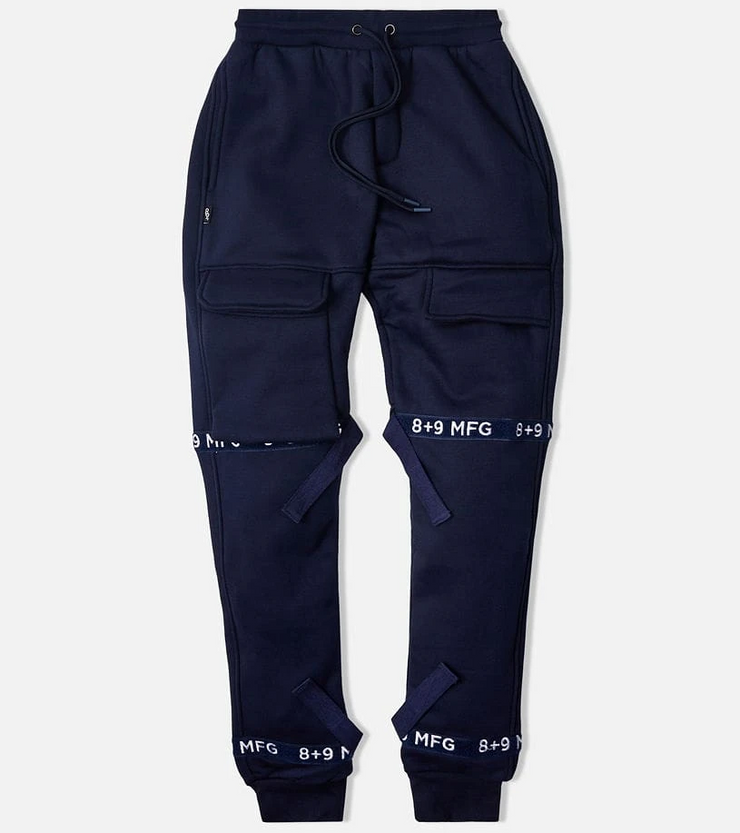 8 & 9 Strapped Up Sweatpants (Navy)