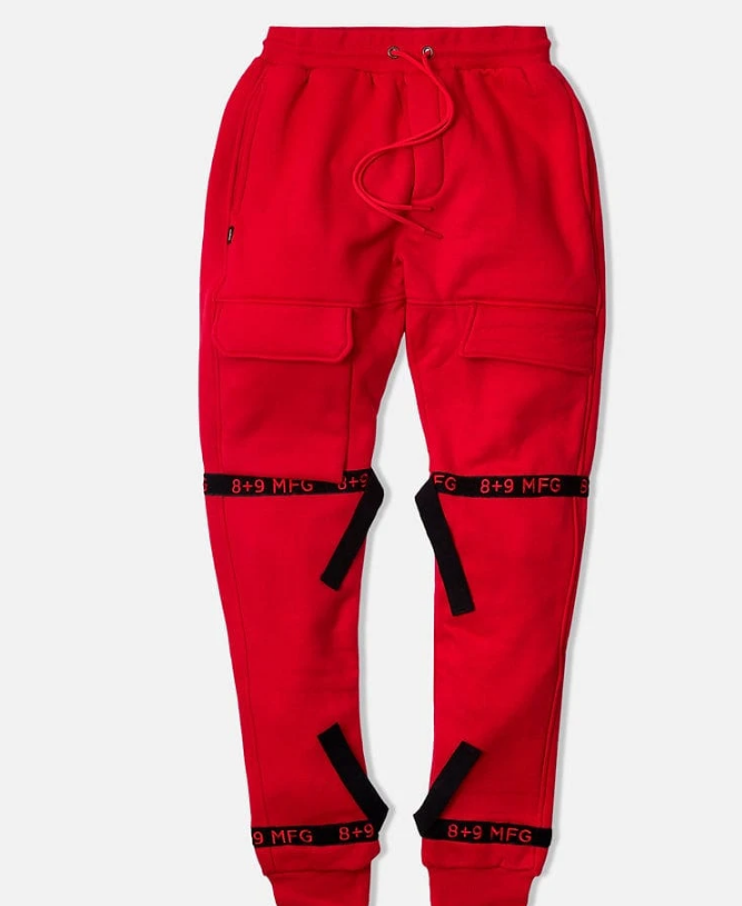 8 & 9 Strapped Up Sweatpants (Red)