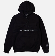 8 & 9 Strapped Up Hoodie (Black/White)