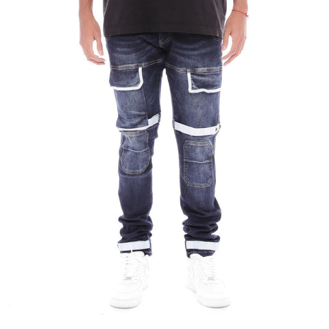 8 & 9 Clothing Strapped Up Utility Pants Dark Denim