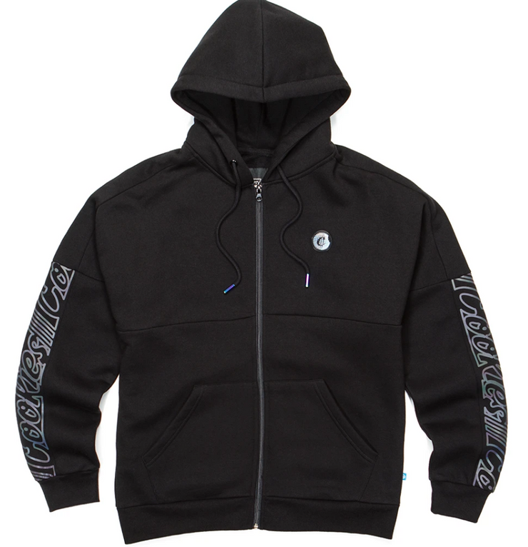 Cookies Hologram Lt. weight Zip Hoodie (Black)