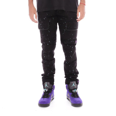 8 & 9 Clothing Strapped Up Utility Pants Grape Splatter