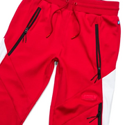 Cookies Pylon Colorblocked Sweatpants (Red/White)