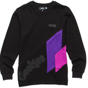 Cookies Pylon L/S Knit (Black/Purple)