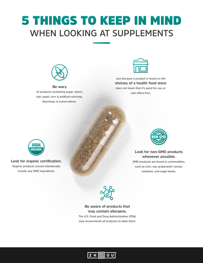 5 things to keep in mind when looking at supplements