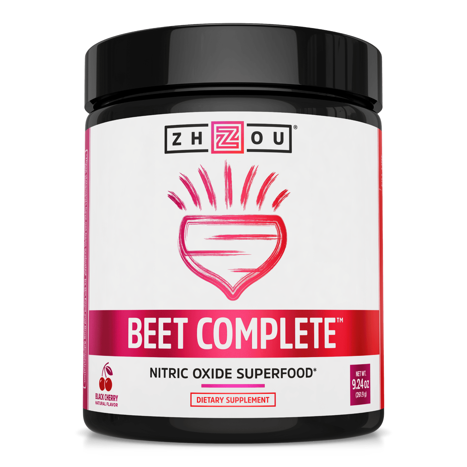 Zhou Nutrition Beet Complete Nitric Oxide Superfood. Bottle front.